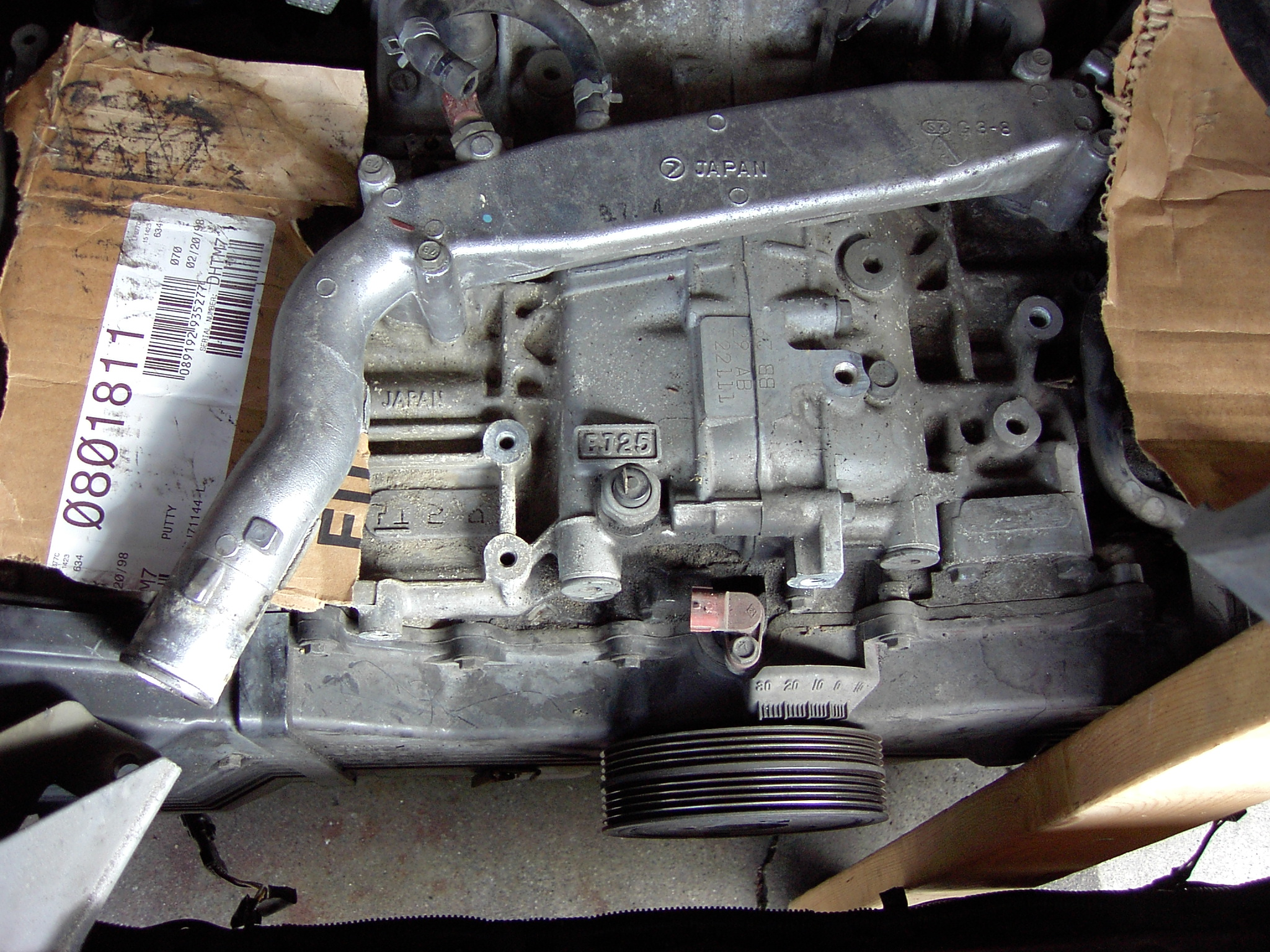 engine with intake manifold removed